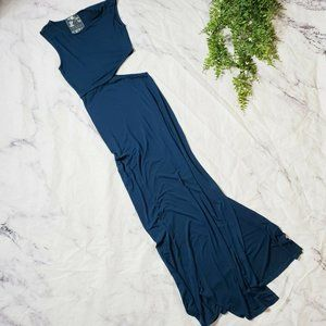 Young Fabulous & Broke Sia Navy Cutout Maxi Dress